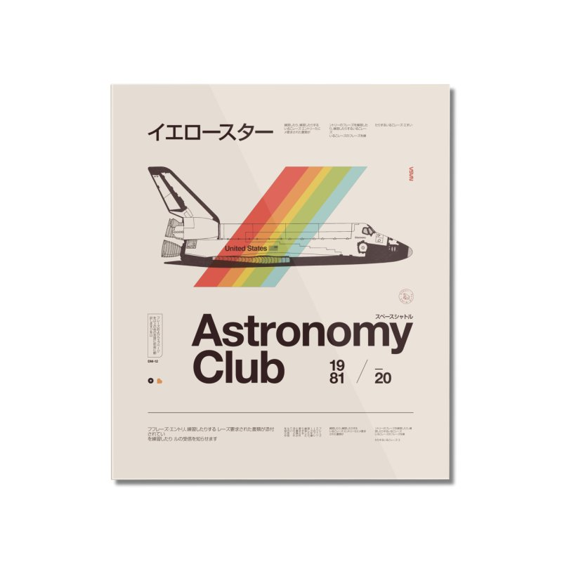 Astronomy Club Home Mounted Acrylic Print by Speakerine / Florent Bodart