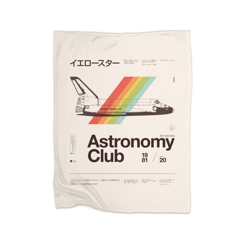 Astronomy Club Home Fleece Blanket Blanket by Speakerine / Florent Bodart
