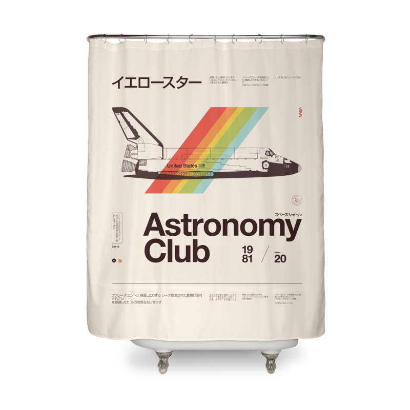 Astronomy Club Home Shower Curtain by Speakerine / Florent Bodart