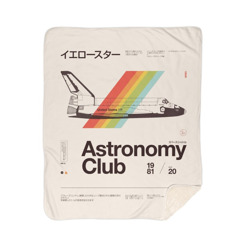 Astronomy Club Home Sherpa Blanket Blanket by Speakerine / Florent Bodart