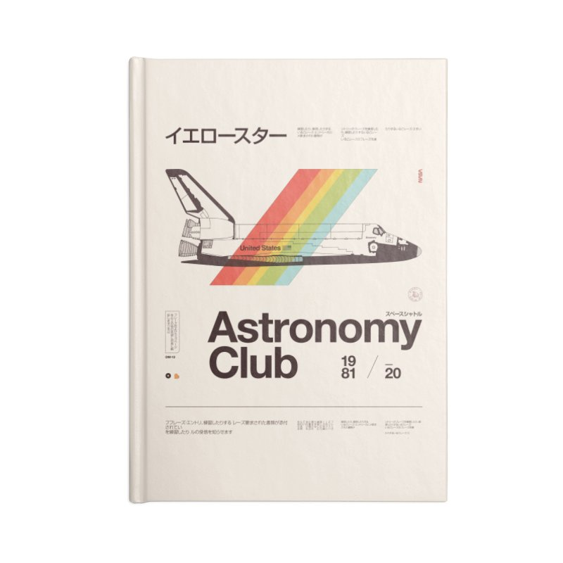 Astronomy Club Accessories Lined Journal Notebook by Speakerine / Florent Bodart