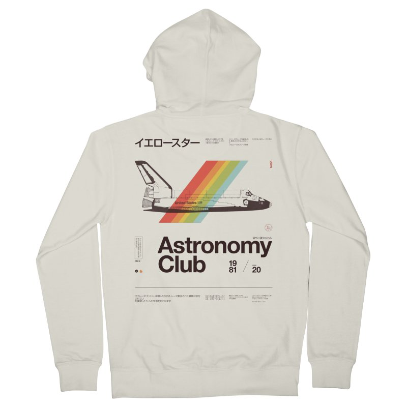 Astronomy Club Men's French Terry Zip-Up Hoody by Speakerine / Florent Bodart