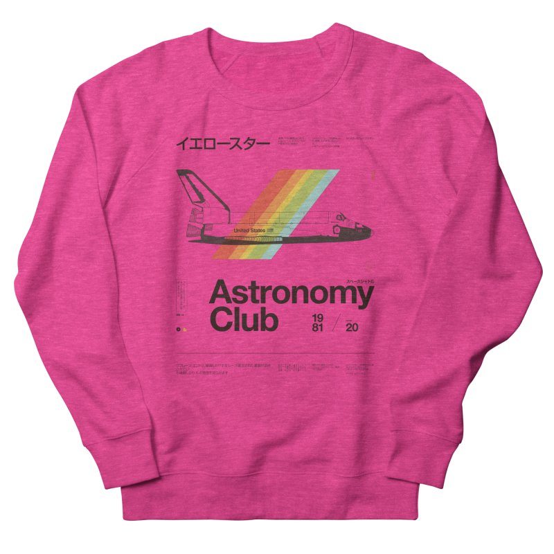 Astronomy Club Women's French Terry Sweatshirt by Speakerine / Florent Bodart