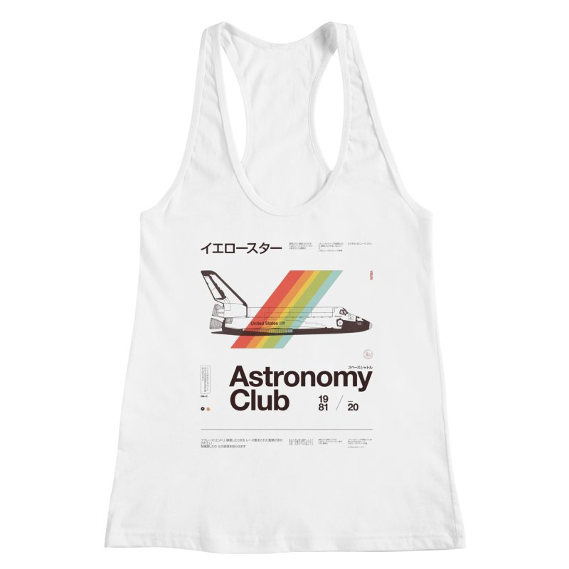 Astronomy Club Women's Racerback Tank by Speakerine / Florent Bodart