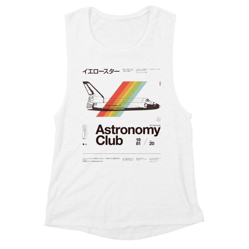 Astronomy Club Women's Muscle Tank by Speakerine / Florent Bodart