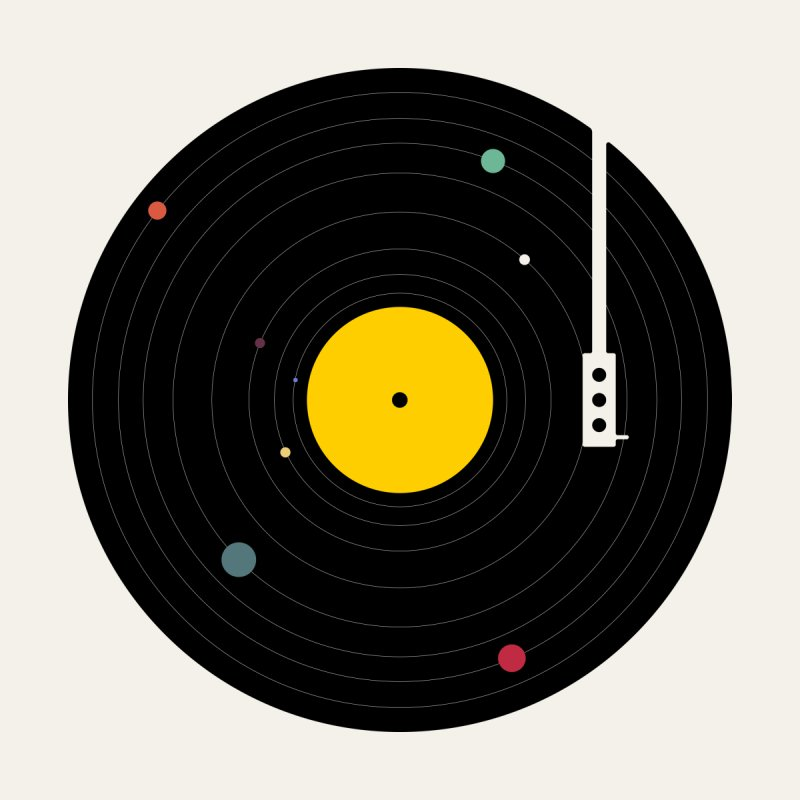 Music, Everywhere Home Fine Art Print by Speakerine / Florent Bodart