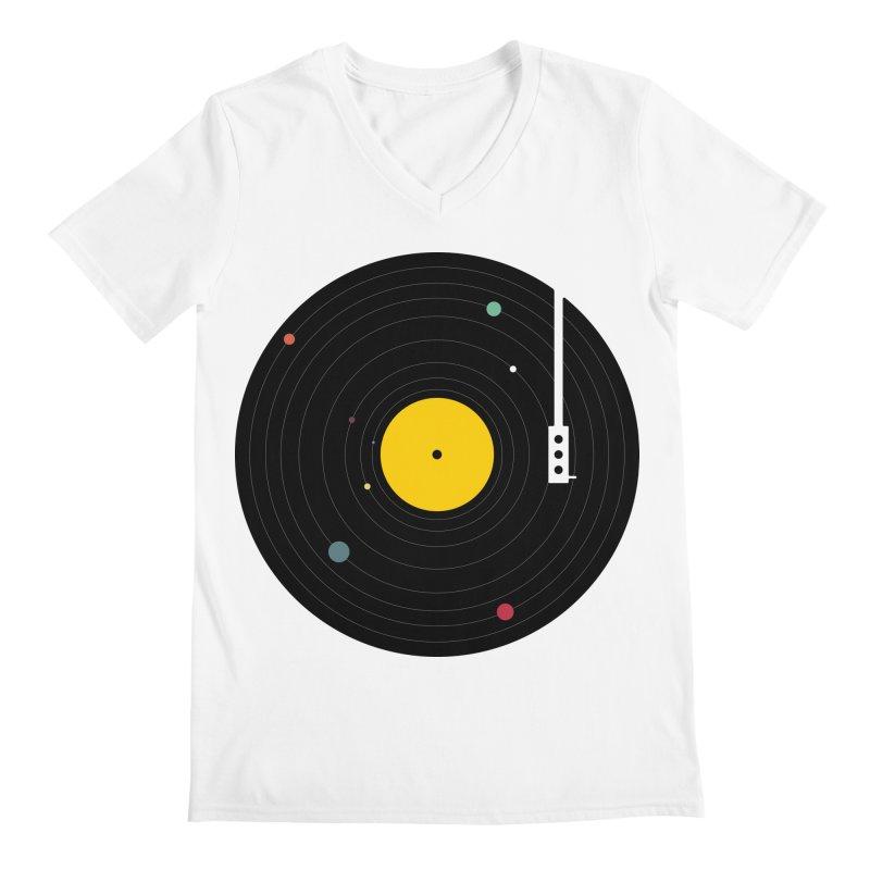 Music, Everywhere Men's V-Neck by Speakerine / Florent Bodart
