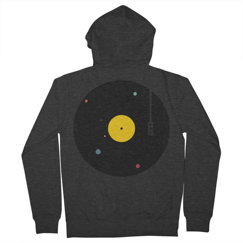 Music, Everywhere Men's French Terry Zip-Up Hoody by Speakerine / Florent Bodart