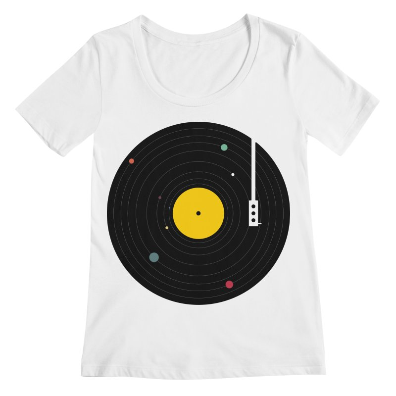 Music, Everywhere Women's Scoopneck by Speakerine / Florent Bodart