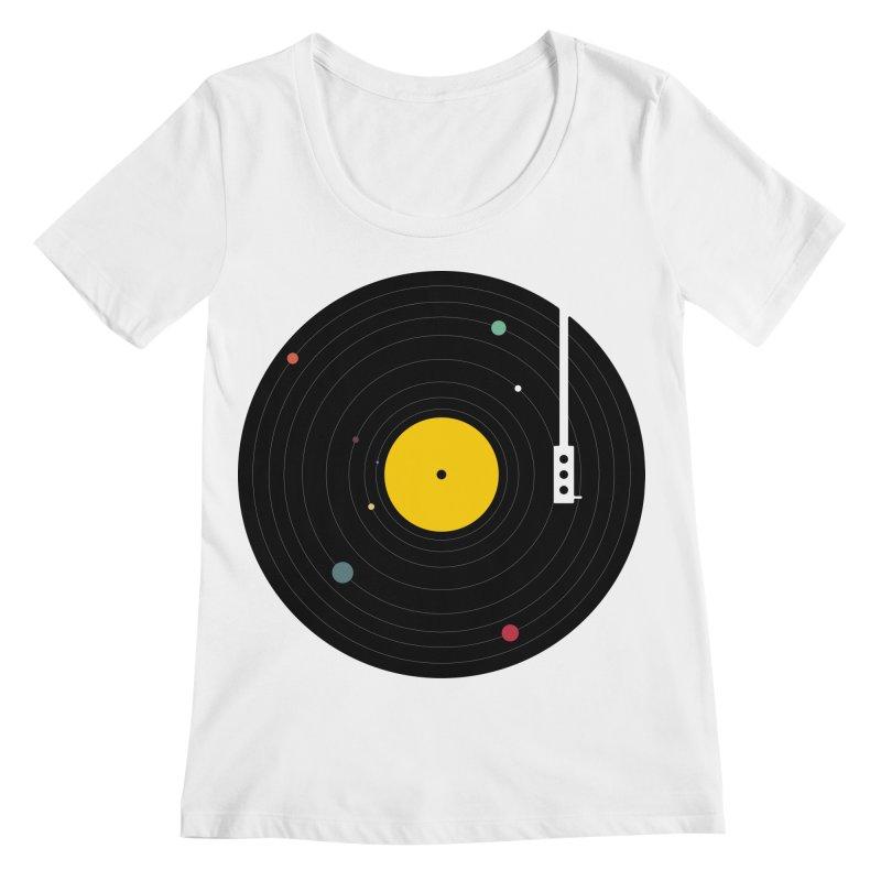 Music, Everywhere Women's Regular Scoop Neck by Speakerine / Florent Bodart