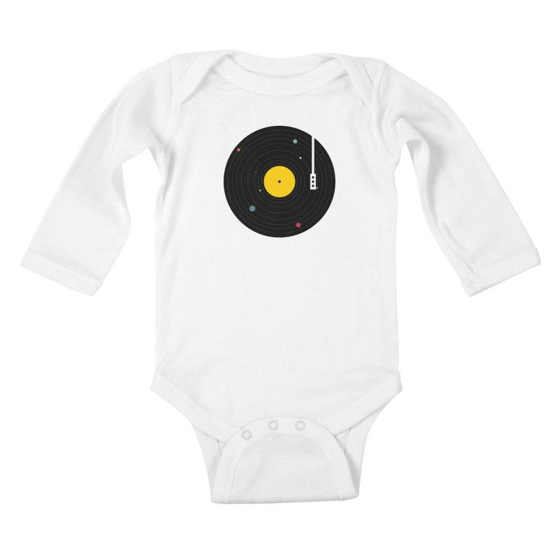 Music, Everywhere Kids Baby Longsleeve Bodysuit by Speakerine / Florent Bodart