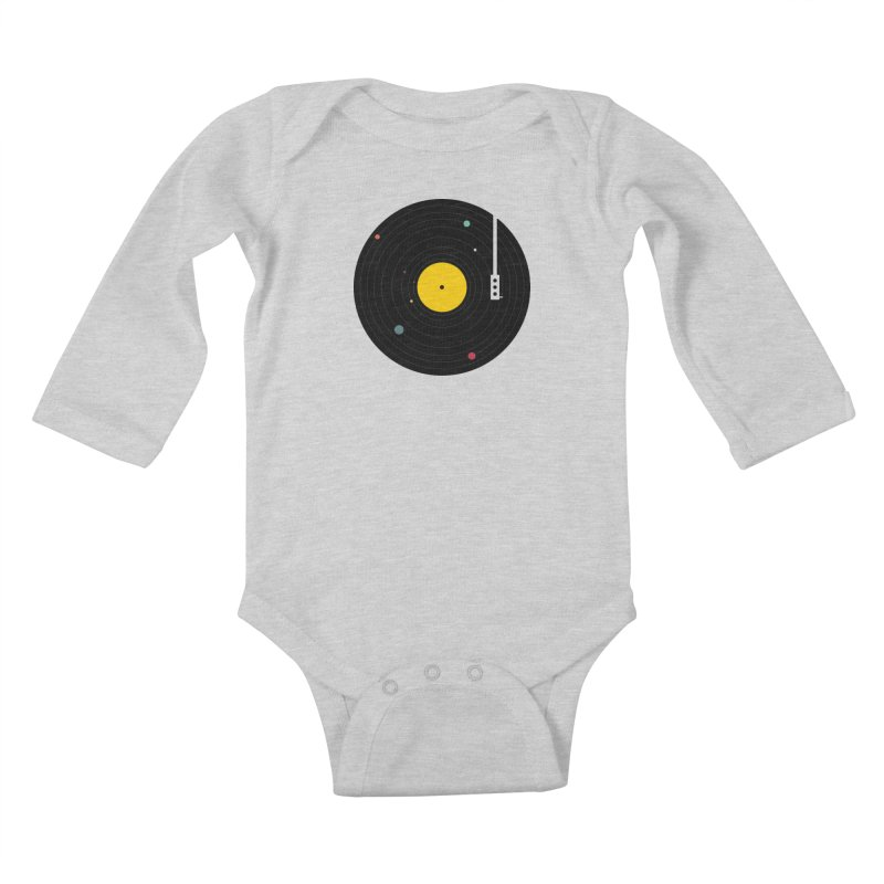 Music, Everywhere Kids Baby Longsleeve Bodysuit by Speakerine / Florent Bodart