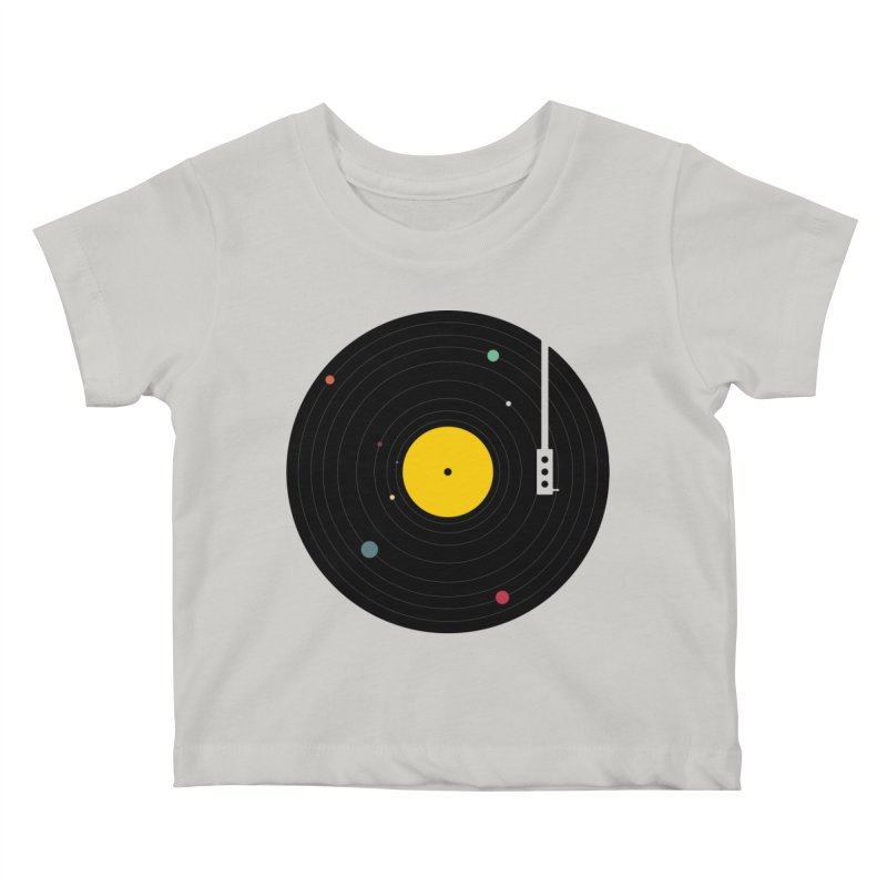 Music, Everywhere Kids Baby T-Shirt by Speakerine / Florent Bodart