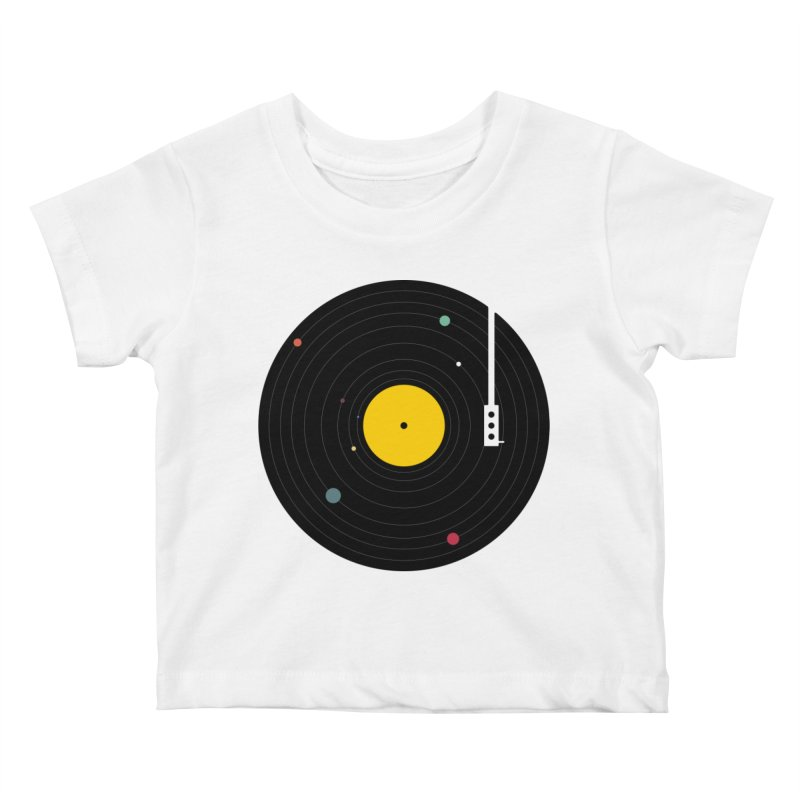 Music, Everywhere Kids Baby T-Shirt by Speakerine / Florent Bodart