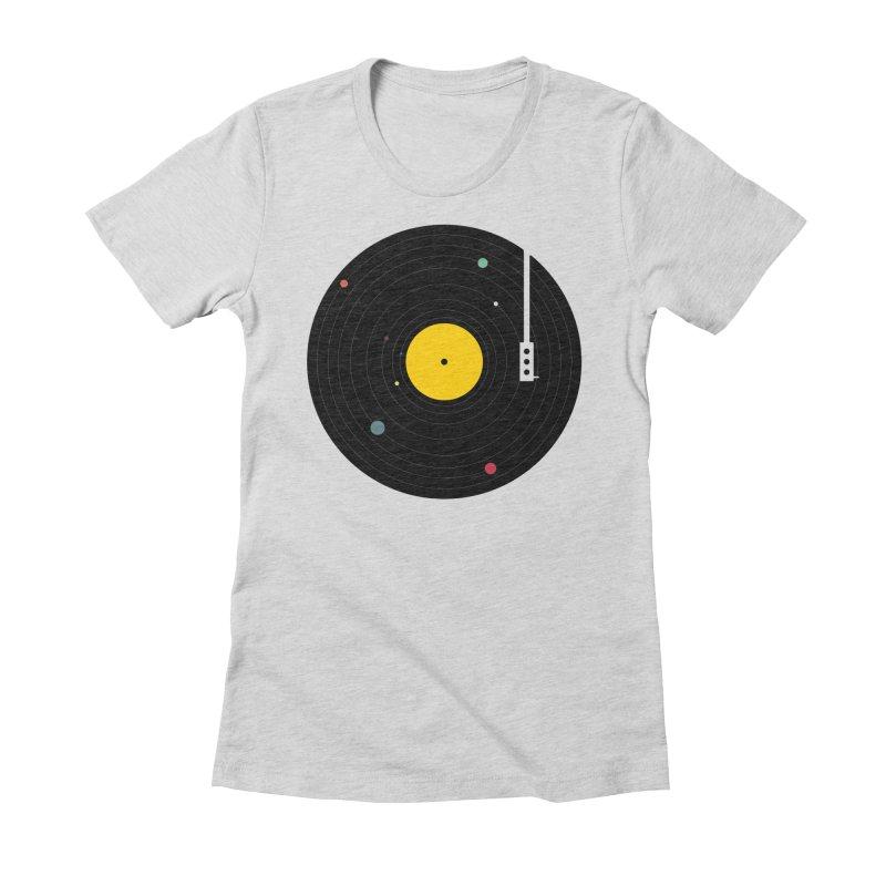 Music, Everywhere Women's T-Shirt by Speakerine / Florent Bodart