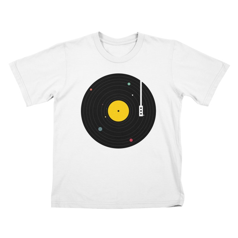 Music, Everywhere Kids T-Shirt by Speakerine / Florent Bodart