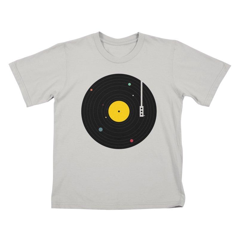 Music, Everywhere Kids T-shirt by Speakerine / Florent Bodart