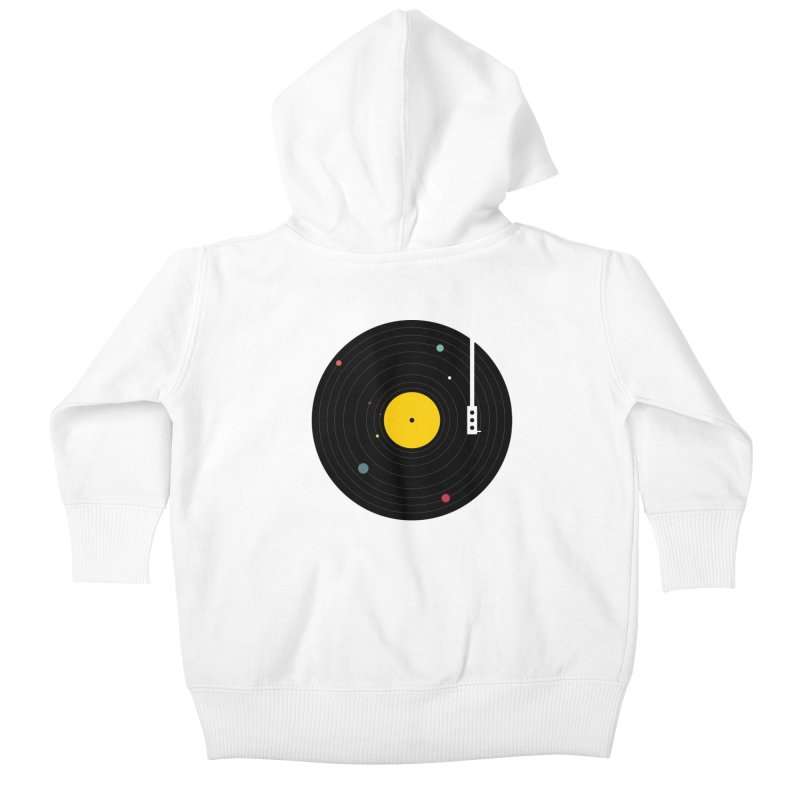 Music, Everywhere Kids Baby Zip-Up Hoody by Speakerine / Florent Bodart