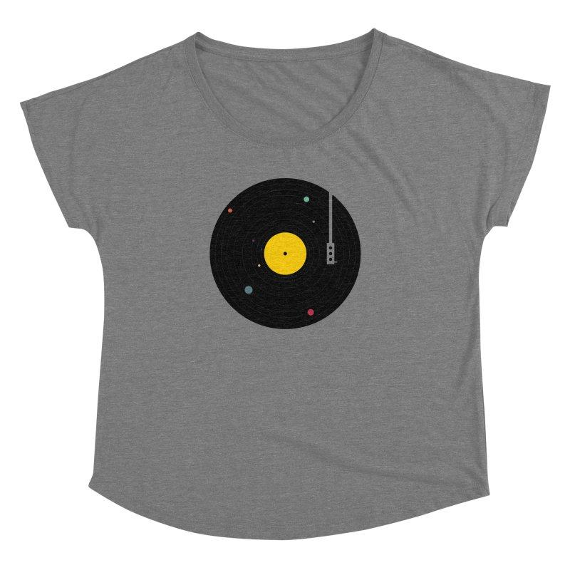 Music, Everywhere Women's Dolman Scoop Neck by Speakerine / Florent Bodart