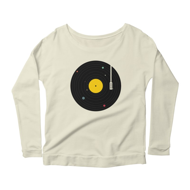Music, Everywhere Women's Scoop Neck Longsleeve T-Shirt by Speakerine / Florent Bodart