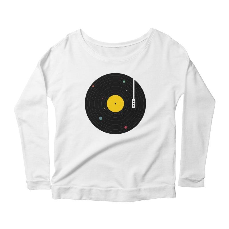 Music, Everywhere Women's Scoop Neck Longsleeve T-Shirt by Speakerine / Florent Bodart
