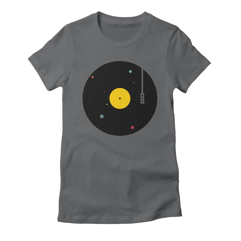 Music, Everywhere Women's Fitted T-Shirt by Speakerine / Florent Bodart