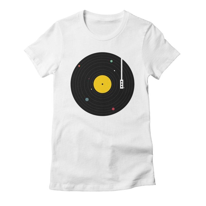 Music, Everywhere Women's Fitted T-Shirt by Speakerine / Florent Bodart