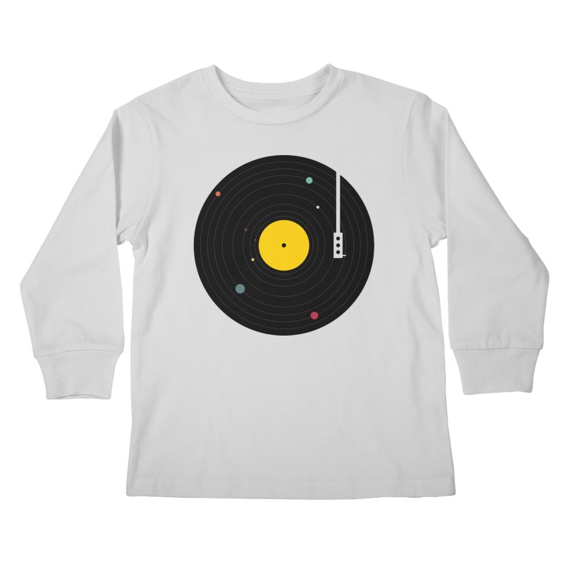 Music, Everywhere Kids Longsleeve T-Shirt by Speakerine / Florent Bodart