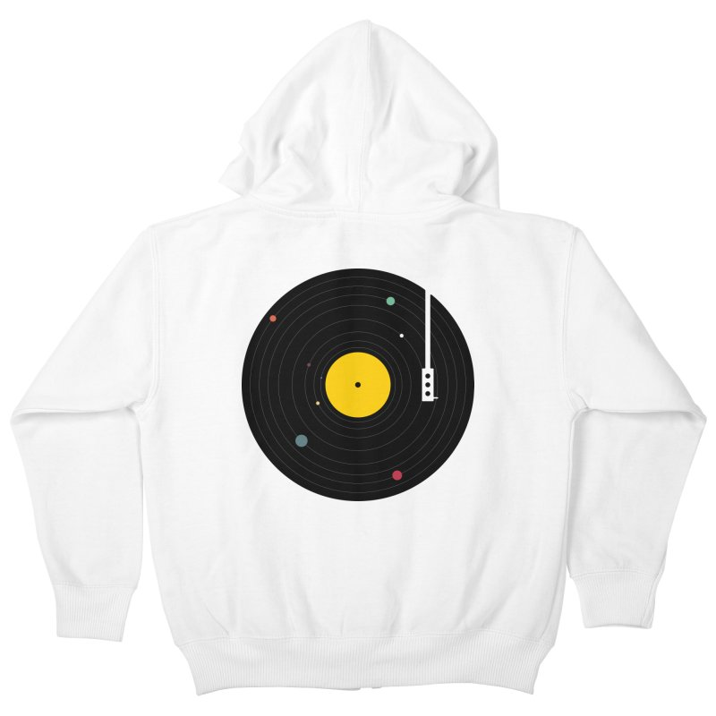 Music, Everywhere Kids Zip-Up Hoody by Speakerine / Florent Bodart