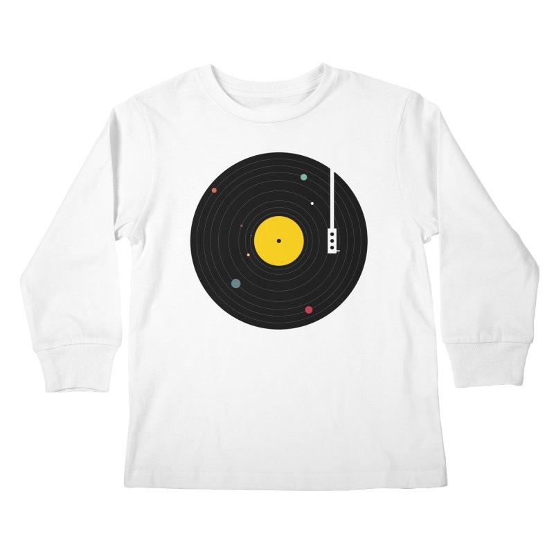 Music, Everywhere Kids Longsleeve T-Shirt by Speakerine / Florent Bodart