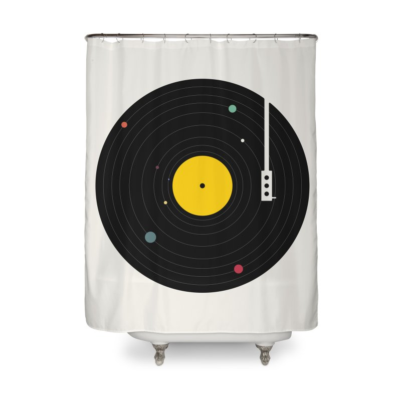 Music, Everywhere Home Shower Curtain by Speakerine / Florent Bodart