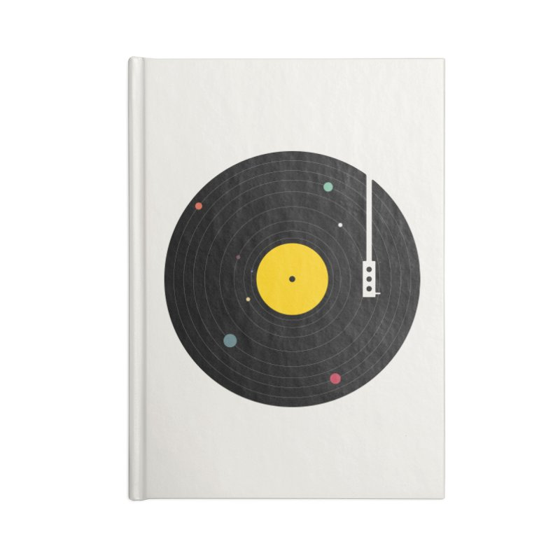 Music, Everywhere Accessories Blank Journal Notebook by Speakerine / Florent Bodart