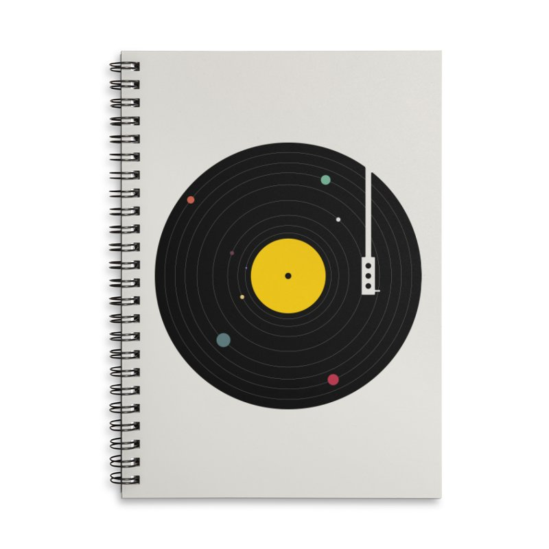 Music, Everywhere Accessories Lined Spiral Notebook by Speakerine / Florent Bodart