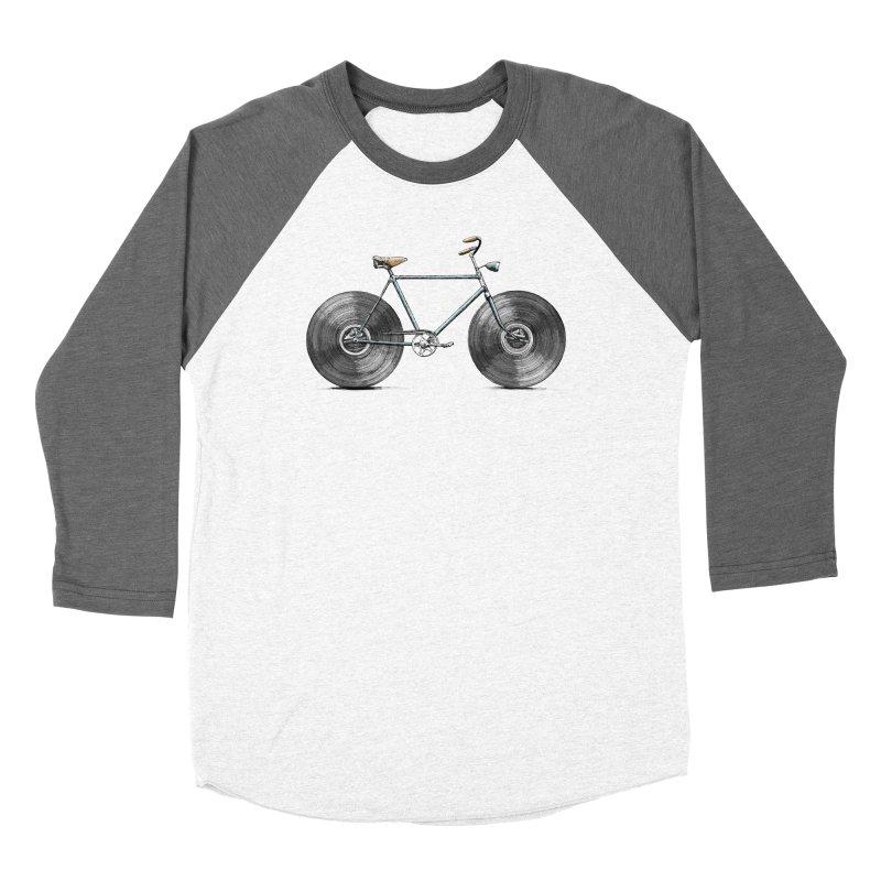 Velophone Men's Baseball Triblend Longsleeve T-Shirt by Speakerine / Florent Bodart