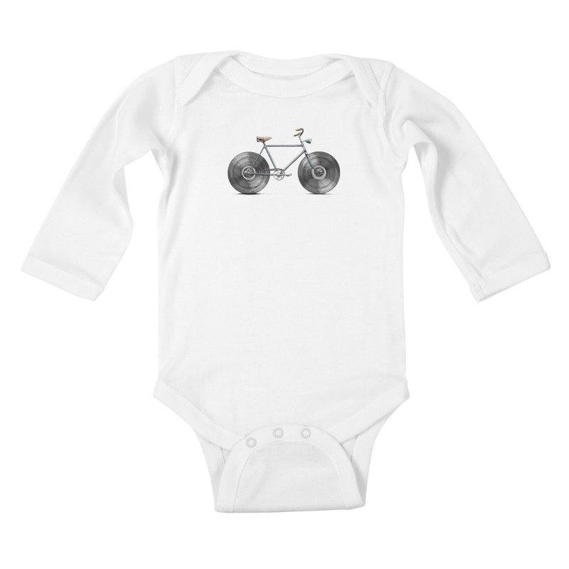 Velophone Kids Baby Longsleeve Bodysuit by Speakerine / Florent Bodart