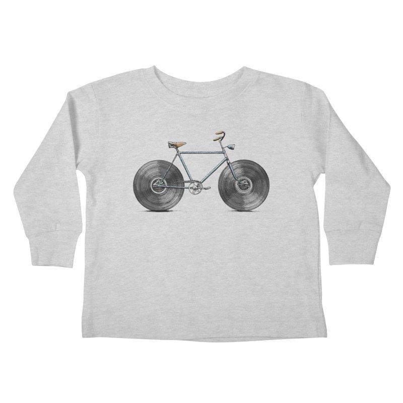 Velophone Kids Toddler Longsleeve T-Shirt by Speakerine / Florent Bodart