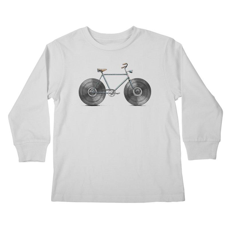Velophone Kids Longsleeve T-Shirt by Speakerine / Florent Bodart