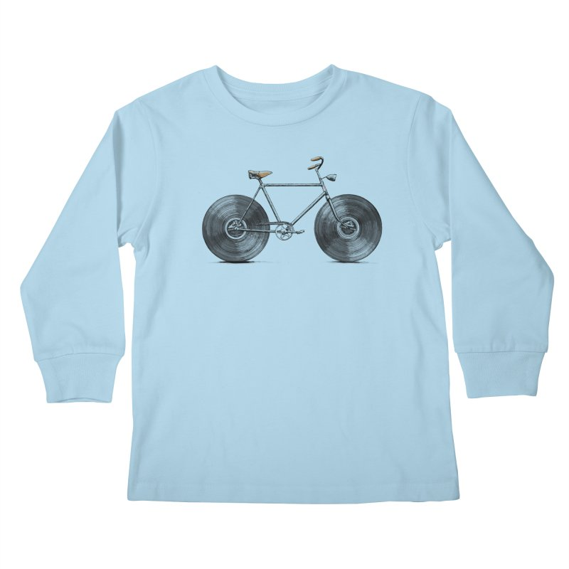 Velophone Kids Longsleeve T-Shirt by Speakerine / Florent Bodart