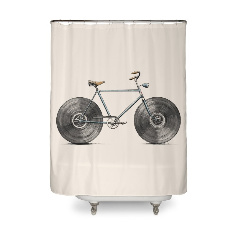 Velophone Home Shower Curtain by Speakerine / Florent Bodart