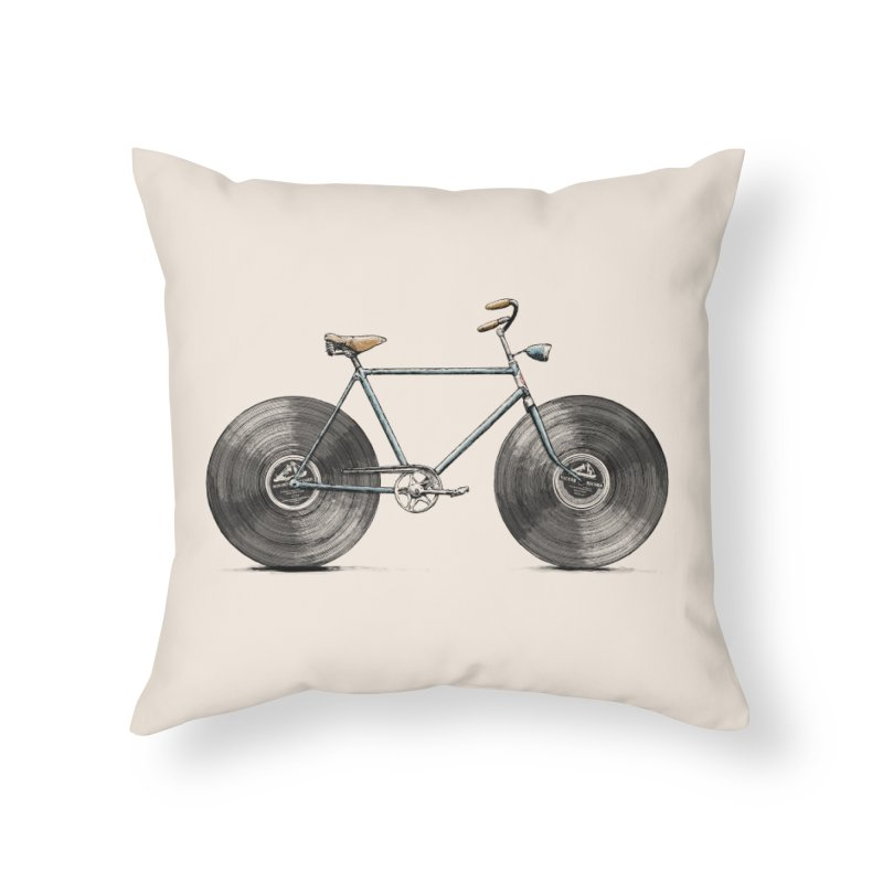 Velophone Home Throw Pillow by Speakerine / Florent Bodart