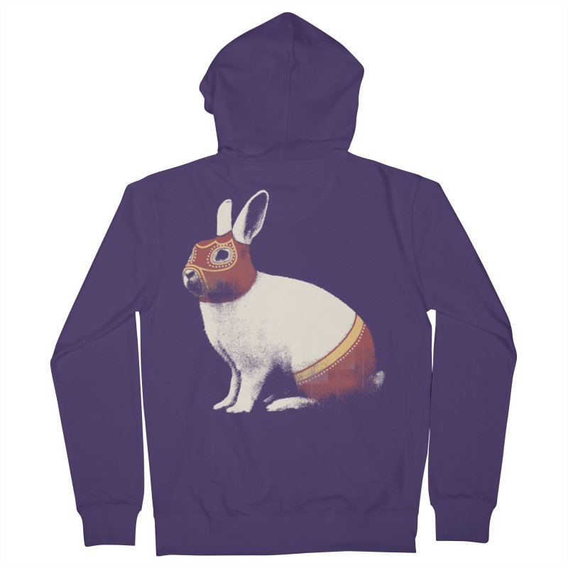 Rabbit Wrestler Women's Zip-Up Hoody by Speakerine / Florent Bodart