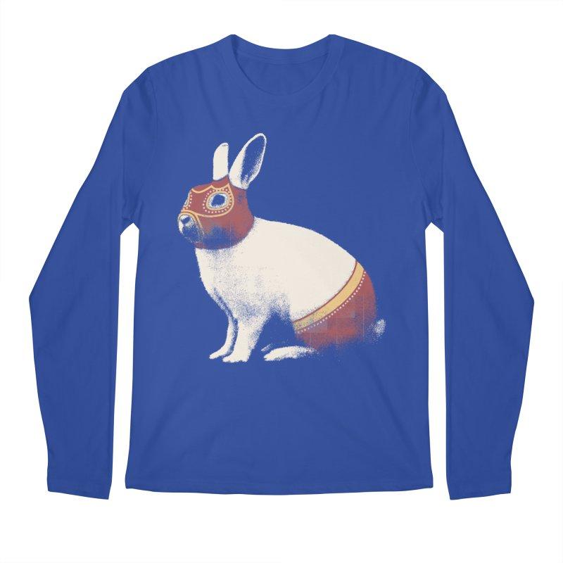 Rabbit Wrestler Men's Longsleeve T-Shirt by Speakerine / Florent Bodart