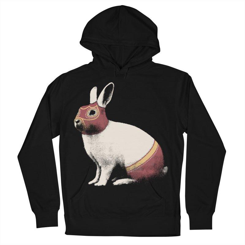 Rabbit Wrestler Men's French Terry Pullover Hoody by Speakerine / Florent Bodart