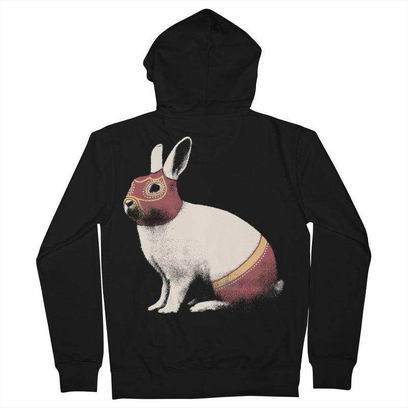 Rabbit Wrestler Men's Zip-Up Hoody by Speakerine / Florent Bodart
