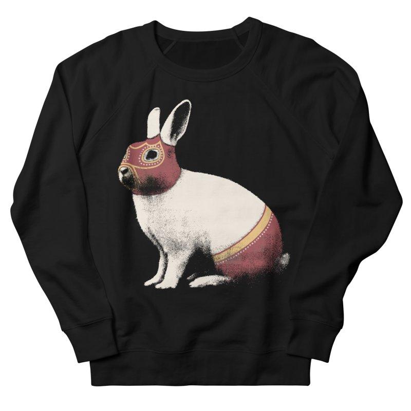 Rabbit Wrestler Men's French Terry Sweatshirt by Speakerine / Florent Bodart