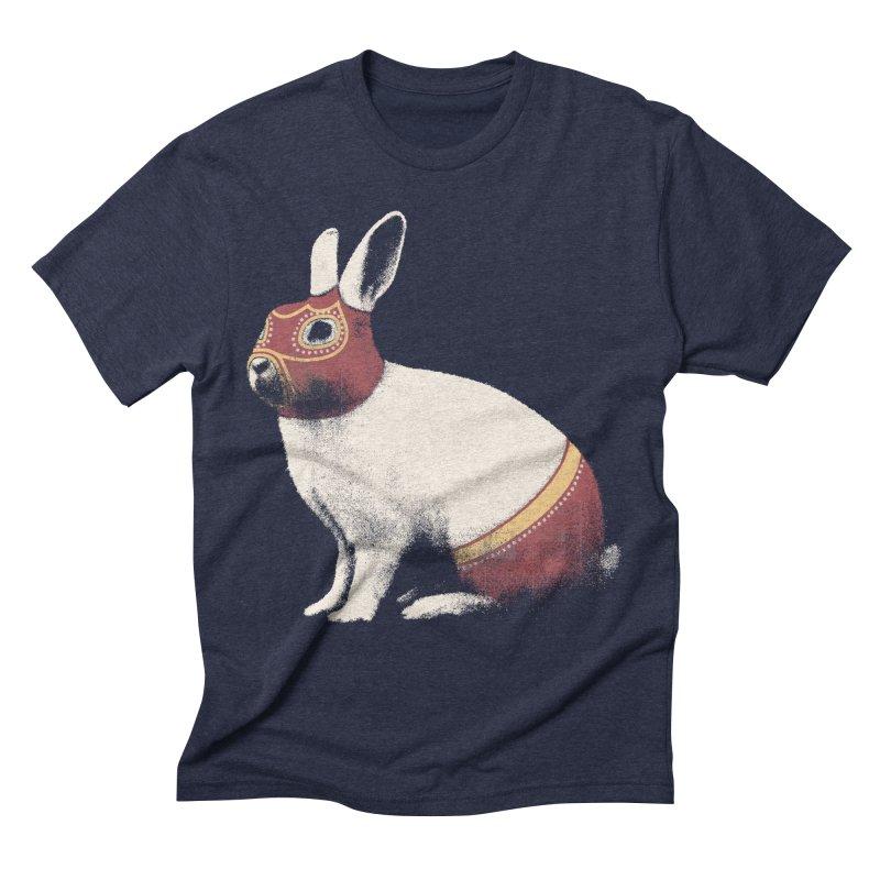 Rabbit Wrestler Men's Triblend T-Shirt by Speakerine / Florent Bodart