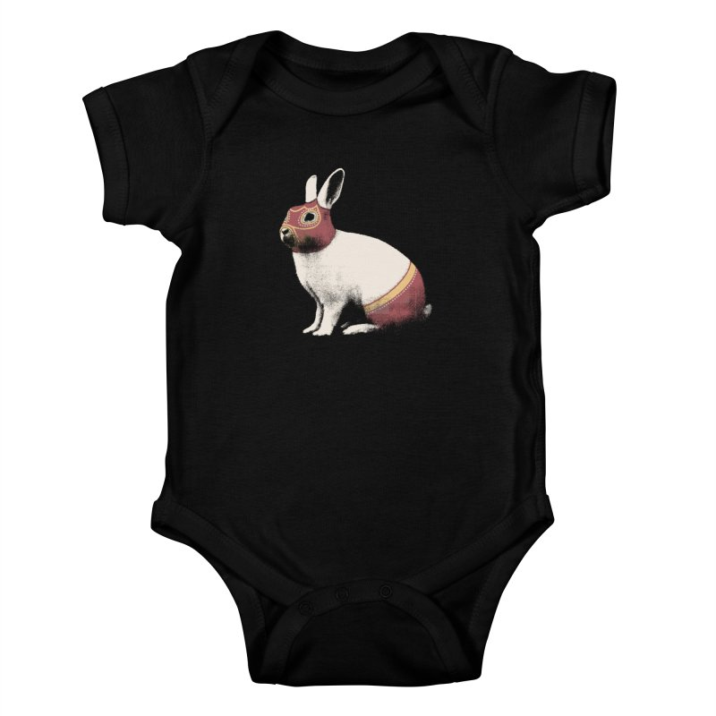Rabbit Wrestler Kids Baby Bodysuit by Speakerine / Florent Bodart