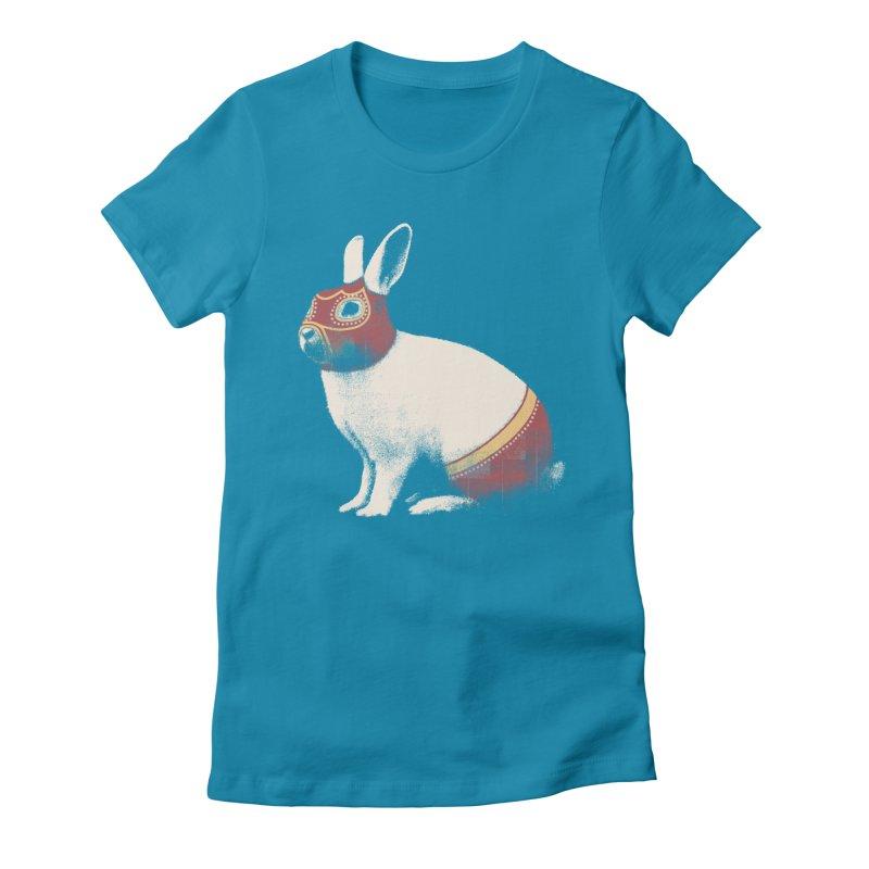 Rabbit Wrestler Women's T-Shirt by Speakerine / Florent Bodart