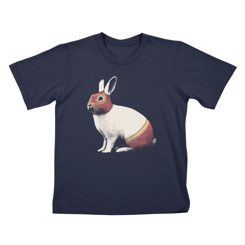 Rabbit Wrestler Kids T-Shirt by Speakerine / Florent Bodart