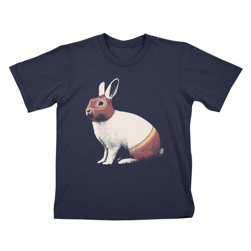 Rabbit Wrestler Kids T-shirt by Speakerine / Florent Bodart